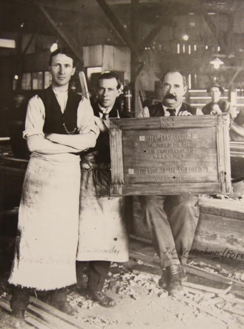 29. 1918 Playground plaque BHAS makers copy