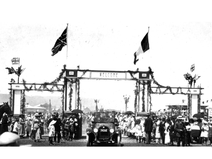 """The civic reception for General Pau was held at the newly constructed children's playground. From The Chronicle (Adelaide), 23 November 1918 PATRIOTIC PORT PIRIE. GENERAL PAU'S PRAISE. Appreciation of the part Port Pirie had played in the war was voiced last week by General Pau when he mentioned how largely the action of the men employed at arduous labor in the lead smelters had contributed to the winning of the war. At the luncheon subsequently given in honor of the French visitors at the Olympia rooms by the directors of the Broken Hill Associated Smelters the chairman of directors (Hon. W. L. Baillieu M.L.C.) also paid tribute to the company's employees here for the manner in which the output of munitions had been maintained. General Pau and other members of the Mission arrived by special train from Peterborough. They were accompanied by the Hons. J. G. Rice and W. H. Harvey. The distinguished visitors were met by the mayor (Mr A. B. Forgan), the general manager of Broken Hill Associated Smelters (Mr W. Robertson), and other officials of the company. The Excelsior Band played the National Anthem and the """"Marseillaise"""", and massed choirs under Mr G. H. Preston, rendered vocal numbers. A naval and military guard of honor were drawn up, and the town hall was decorated with flowers and flags. Shortly after 9 o'clock the party were conveyed by motor to the smelters, where a monster demonstration was made. General Pau addressed the employees, congratulating them upon the assistance they had rendered as munition workers and thanking the company for its cordial welcome. The scholars of the Solomontown and Pirie West schools, under their headmasters, Messrs G. Charlesworth and F. Fairweather, were drawn up in front of a large pavilion erected on the recently constructed children's playground, where the civic reception took place. After the mayor had delivered an address of welcome, General Pau thanked those present for the homage addressed to his country. The result of th"""