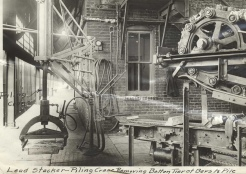 Lead stacking machine c1920