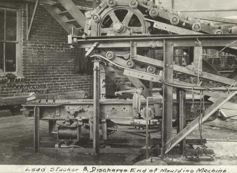 Lead stacking machine c1920