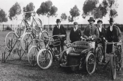 Bike display @ 1905 Crystal Brook Show