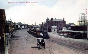 Ellen Street - hand-coloured postcard