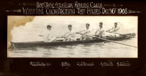 Port Pirie Amateur Rowing Club Winning Crew Day Fours Dec 16th 1908