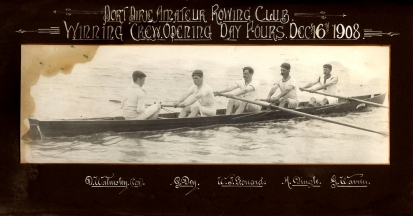Port Pirie Amateur Rowing Club Winning Crew Day Fours Dec 16th 1908